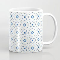 Acrylic Blue Square Dots Mug by Doucette Designs