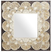 Gold Scallop Mosaic Mirror