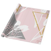 White Tulips Wrapping Paper