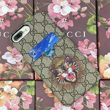 GUCCI iPhone Phone Cover Case For iphone 6 6s 6splus 7 7plus hard shell