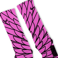 Wings Pink 8 Custom Nike Elite Socks