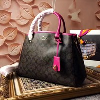 COACH WOMEN'S PVC LEATHER HANDBAG SHOULDER BAG