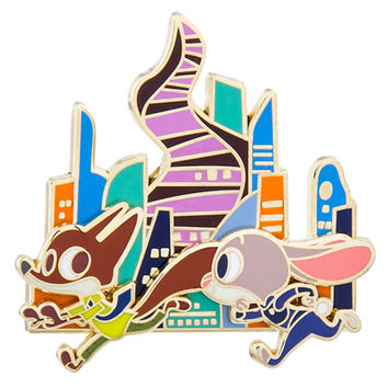 disney parks zootopia judy hopps & nick wilde pin new with card