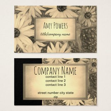 nature design custom business card double sided