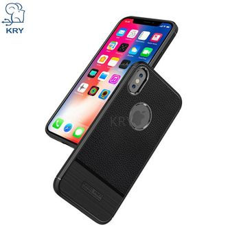 KRY Luxury Carbon Fiber Phone Cases For iPhone X Case Soft TPU Anti Knock Cover For iPhone X Case Ultra Thin Cases Capa Coque