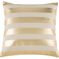 Zanzibar 20x20 Pillow, Gold, Decorative Pillows