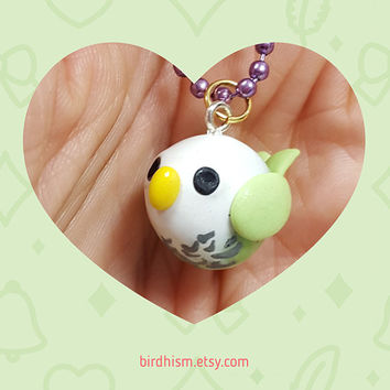 Handmade Chubby Parakeet Necklace