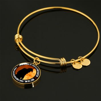 My Son Is A Firefighter - 18k Gold Finished Bangle Bracelet