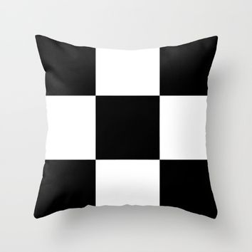 #2 Chessboard, squares Throw Pillow by Minimalist Forms