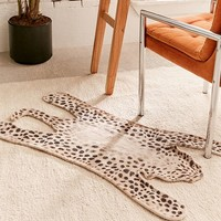 Tammas Printed Tiger-Shaped Rug | Urban Outfitters