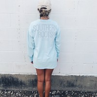 SR Custom Long Sleeve Tee - Chambray