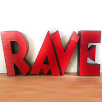 Large Rave Light Sign - Vintage