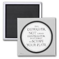 Scrape Your Plate (Dishwasher) (Silver Effect) Magnets