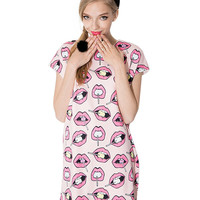 Pink Lips + Lollipop Loose Dress