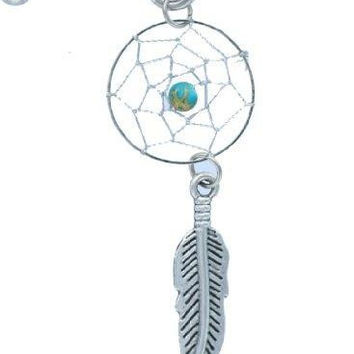 IndustriaL 316L Surgical Steel Dream Catcher Dangle Industrial Barbell 14g 1 1/2''