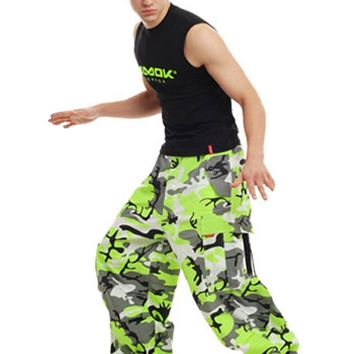 Amok Neon Green Camo Pants : Windbreaker Neon Rave Pants