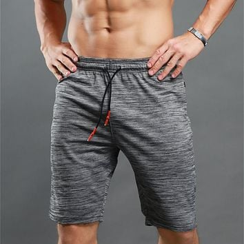 Men Bodybuilding Male Shorts Workout Shorts Male Fitness Solid men's Elastic Waist shorts Casual