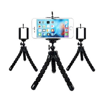 Octopus flexible tripod portable sponge mount bracket for phone camera tripod for Go pro Hero 4 Accessories Camera Holder Stand