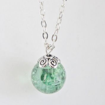 Marble necklace,marble pendant,green,necklace,women's jewelry,gift for her,fried marble,shattered marble,bridesmaid gifts