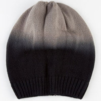 Ombre Cable Knit Beanie Charcoal One Size For Women 22365511001
