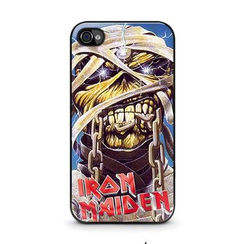 iron maiden iphone 4 4s case cover  number 1