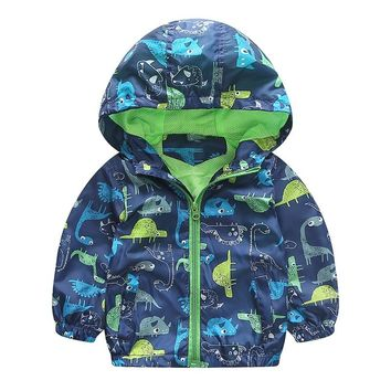 Dinosaurs Animal Kid Child Baby Toddler New Born Infant Winter Snow Coat
