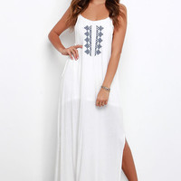 Gentle Fawn Maui Ivory Embroidered Maxi Dress