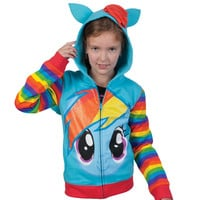 My Little Pony - Rainbow Dash Girls Youth Zip Hoodie