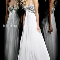 Floor Length Strapless Sherri Hill Dress