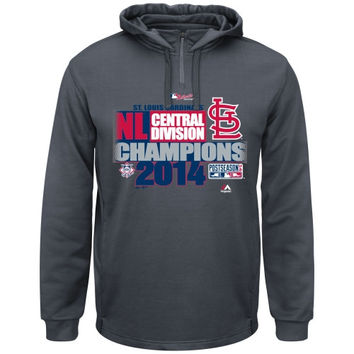St. Louis Cardinals Majestic 2014 NL Central Division Champions Locker Room Hoodie - Charcoal