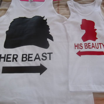 Disney Beauty & The Beast Couples TShirts by 4everBigRedCreations