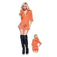 New Sexy Adult Female Prisoner Cosplay Halloween Costume Policewomen Uniform Temptation Play Clothes Party Clothes