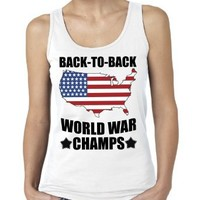 America Back To Back World War Champs Women's Tank Top (Medium)