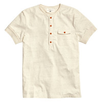 Short-sleeved Henley - from H&M