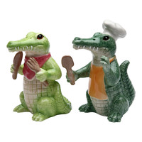Sugar High Social Alligator Salt & Pepper Shakers | zulily