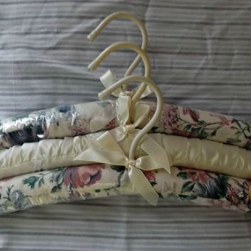 Set of Three Vintage Padded Clothes Lingerie Hangers