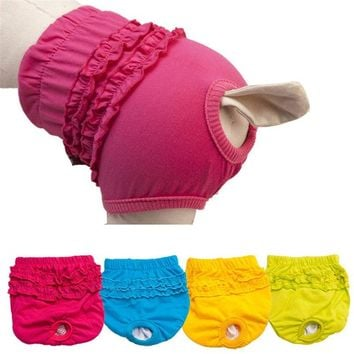 New Cute Pet Dog Panty Brief Bitch In Season Sanitary Pants For Girl Female