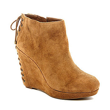 Gianni Bini Corsette Wedge Boots