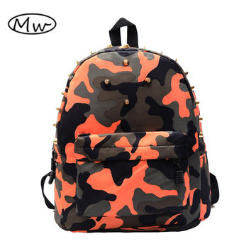 Mini rivet camouflage backpack kindergarten children's school bags boys and girls book bag 5-7 years old nursery rucksack M124