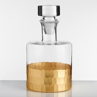 Gold Faceted Decanter