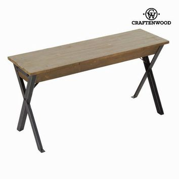 Wood and metal bench by Craften Wood