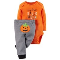 Carter's ''My First Halloween'' Bodysuit & Pants Set - Baby Neutral, Size: