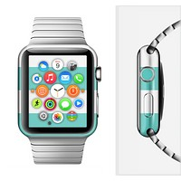 The Teal Striped Pink Anchor Full-Body Skin Set for the Apple Watch