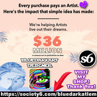 BluedarkArt • Every #Purchase pays an #Artist! <3 My Name is...