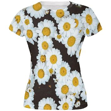 Daisies All Over Juniors T Shirt