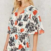 Grow Matter What Floral Romper - White