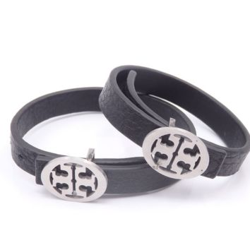 Givenchy Fashion Casual Double G Logo Women Men Leather Hand Catenary
