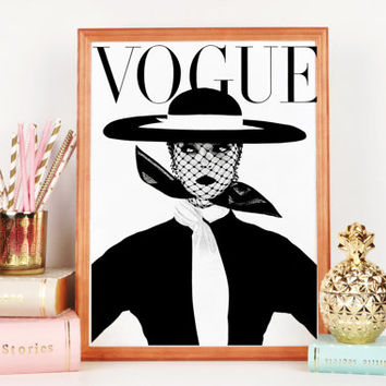 VOGUE ART PRINT,More Issues Than Vogue,Vogue Cover,Vogue Magazine,Vogue Fashion Print,Vogue Cover Illustration,Home Giclee,Fashion Art Print