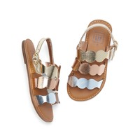 Metallic Strappy Sandals | Gap