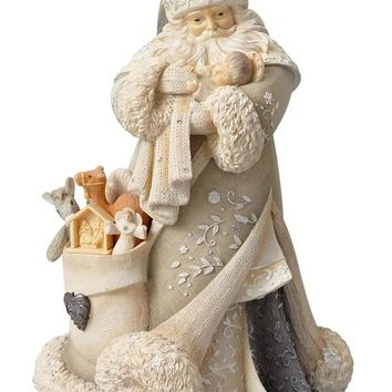 Foundations Santa with Baby Jesus–6001153